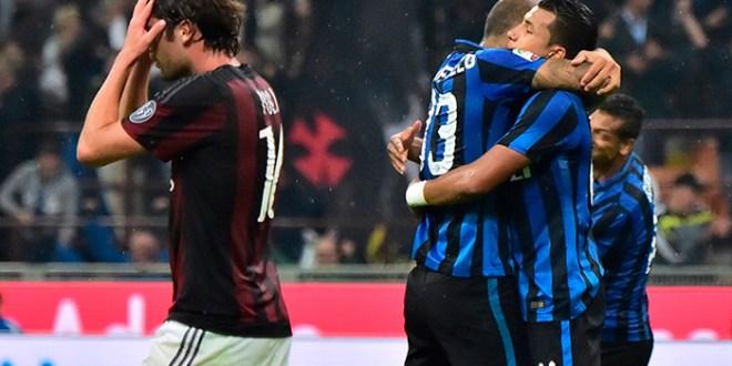 El Inter vence al Milan y es el único líder