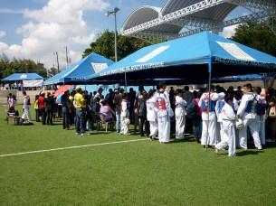 El Complejo Deportivo San Antonio de Ayutuxtepeque fue la sede del tope amistoso de taekwondo. Foto Diario Co Latino/ Juan Carlos Villafranco.