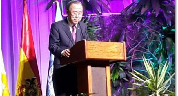 ¡Patria o muerte! saludó Ban Ki Moon en Bolivia