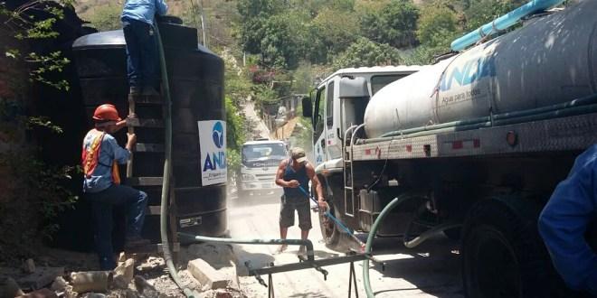 ANDA continúa abasteciendo de agua a comunidades afectadas