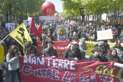 Nuevas manifestaciones de trabajadores y estudiantes en Francia contra reforma laboral