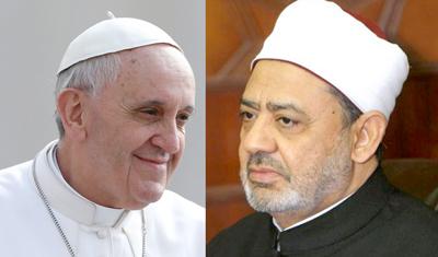 Reunión histórica del papa con el gran imán Ahmed al Tayeb en el Vaticano