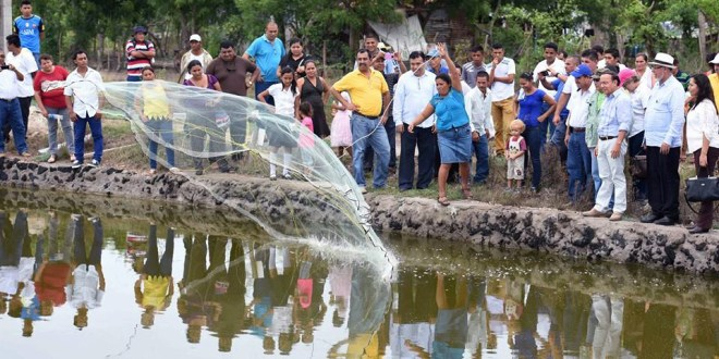 MOP entrega a cooperativas del Bajo Lempa estanques camaroneros dañados por azolvamiento