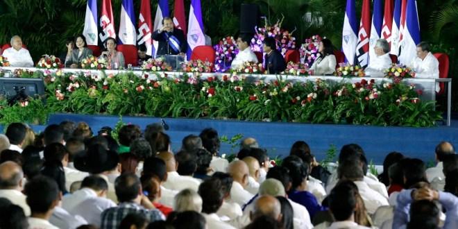 Masiva asistencia a la toma de posesión  del comandante Daniel Ortega