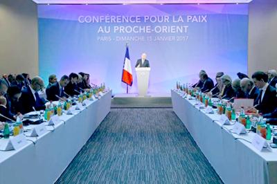 Reunión en París vuelve la vista hacia paz entre Israel y Palestina