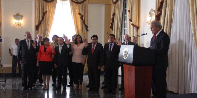 Presidente juramenta al Consejo Nacional  de Ordenamiento y Desarrollo Territorial
