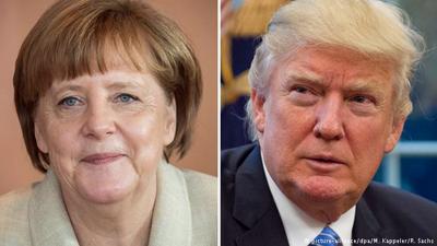 Trump recibe a Merkel en una reunión que suscita expectación