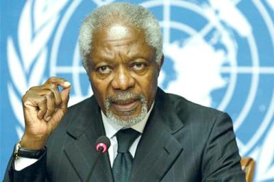 Mundo combatirá cambio climático aun sin Estados Unidos, asegura Koffi Annan