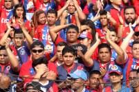 """La afición de FAS sufrió el empate de su equipo ante Aguila, en el estadio """"Óscar Quiteño"""". Foto Diario Co Latino/Juan Carlos Villafranco"""
