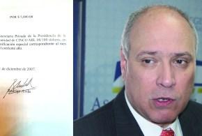 Luis Cardenal, Rodrigo Ávila y Margarita Escobar recibían dinero de partida secreta