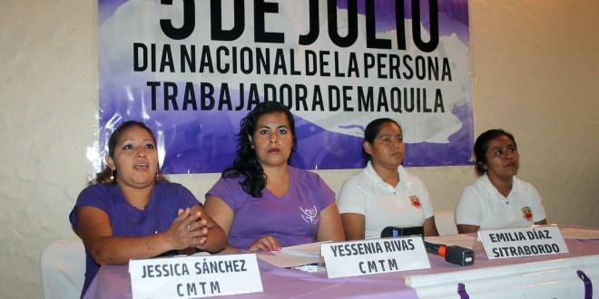 Trabajadoras de la maquila aún vulneradas en sus condiciones laborales