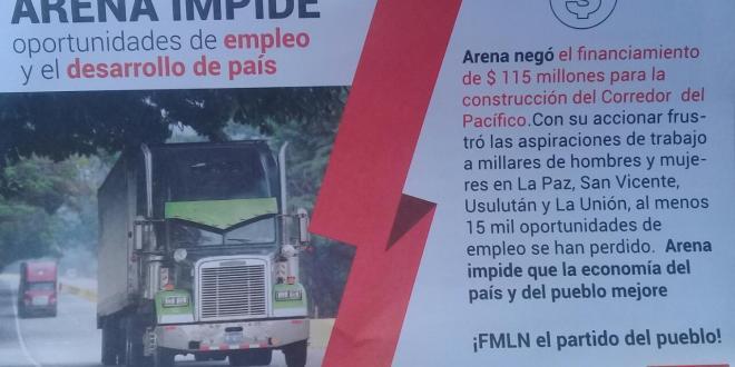 FMLN inicia jornada informativa contra el bloqueo económico de la derecha