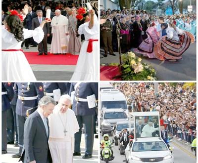 El papa clama solución para crisis en Venezuela y reconciliación en Colombia