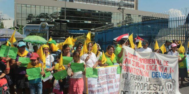 Organizaciones sociales  exigen que se elimine a la ANEP de la Ley del Agua