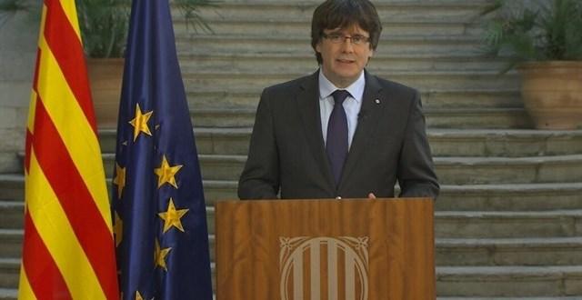 Puigdemont  pide defender la  independencia  de Cataluña