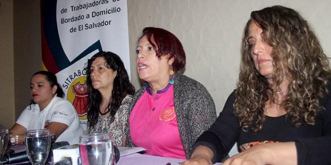 Bordadoras a domicilio esperan decreto legislativo en materia salarial