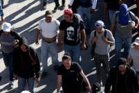 La estampa de San Romero de América durante la caravana migrante. Foto Diario Co Latino/ David Martínez.