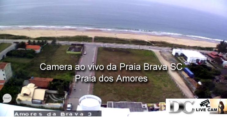 Camera ao vivo da Praia Brava SC Amores 2