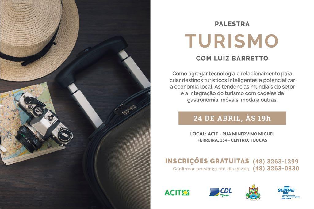 Ex-ministro do Turismo palestra em Tijucas no próximo dia 24