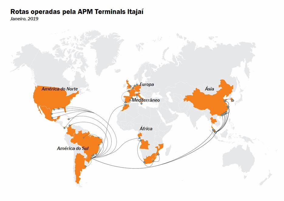 APM Terminals Itajaí terá serviço da PIL para conexão com a Ásia
