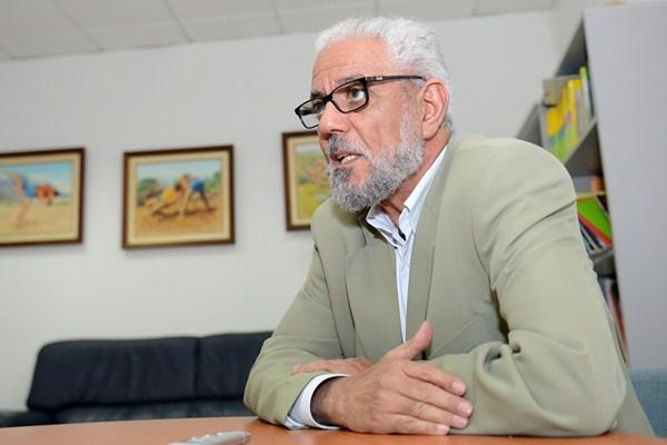Hamdi Mansour, delegado del Frente Polisario en Canarias. / SERGIO MÉNDEZ