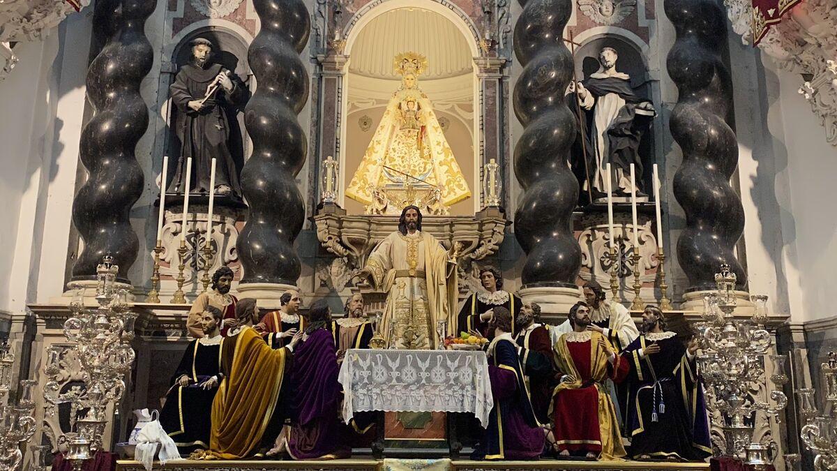 El misterio de La Cena, en el altar mayor de Santo Domingo
