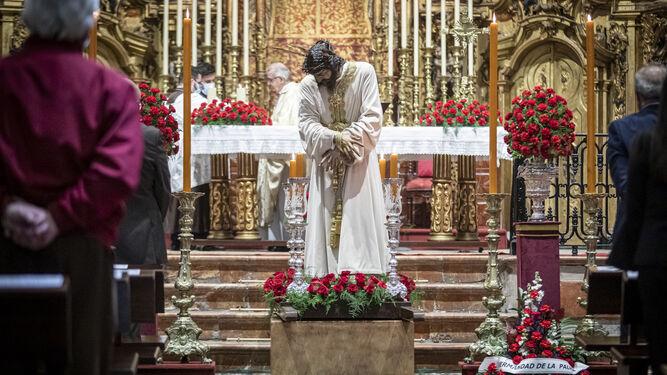 El Nazareno del Amor, este sábado en su parroquia.