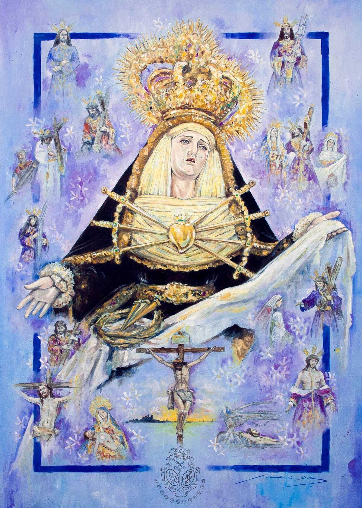 Cartel de la Semana Santa 2021 editado por la asociación Porta Coeli.