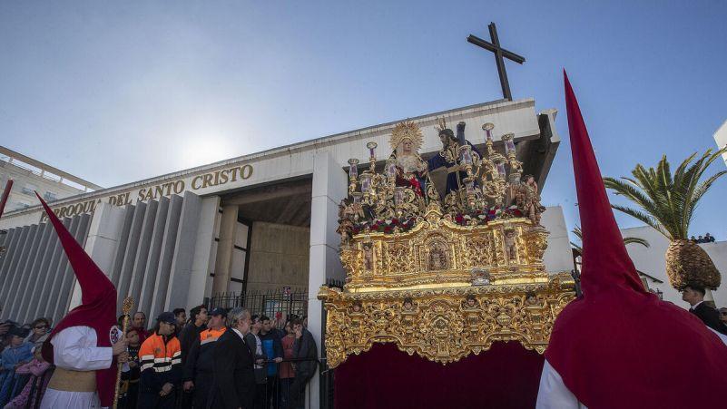 El paso de misterio de Afligidos, de San Fernando.