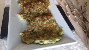 tortitas de brócoli y calabacín