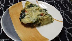 pastel de alcachofas y espinacas gratinado