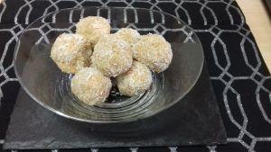 bolitas de coco sin azúcar