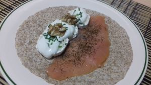 tortitas de salmón y queso
