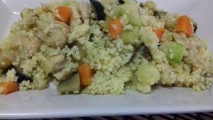 cuscús de pollo y verduras
