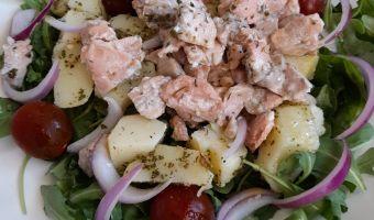 Ensalada de salmón y patata