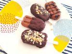 Helados de chocolate y avellanas