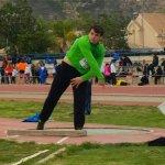 Atleta de la Escuela de Atletismo de La Manga en la prueba del pasado fin de semana.