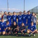 Los juveniles de Los Belones C.F., a punto de proclamarse campeones de la Liga Local de Fútbol Base.