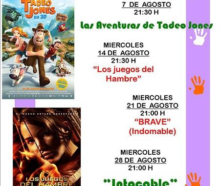 cartel proyecciones veraniegas 2013