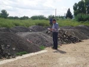 CLR descubre toneladas de asfalto depositadas en una parcela de suelo rústico