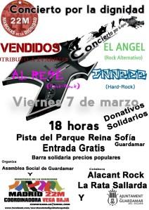 Las marchas de la dignidad organizan un concierto solidario