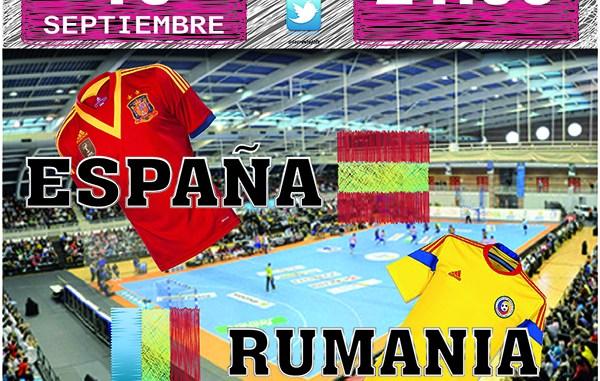 CARTEL partido España - Rumania
