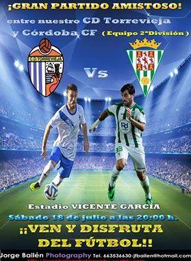 Cartel promocional CD Torrevieja - Córdoba CF
