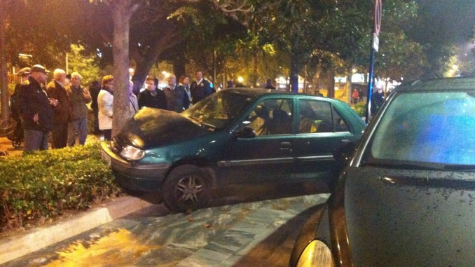 coche estrellado
