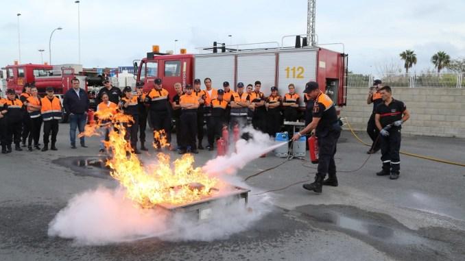 proteccion civil practicas fuego