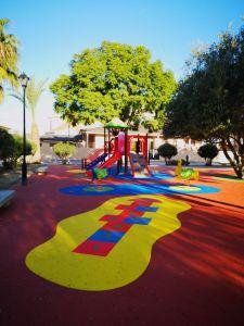 Finalizan las obras del parque infantil de Plaza Alquibla