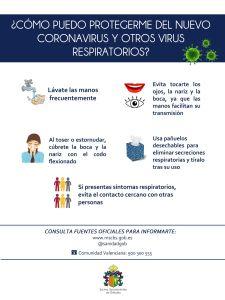 La Concejalía de Emergencias recuerda las medidas de protección ante el Coronavirus