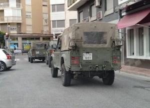 El Ejército colabora en el cumplimiento del Estado de Alarma y desinfecta zonas de Callosa