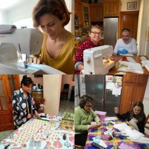 Unas 60 personas están cosiendo mascarillas en Pilar de la Horadada