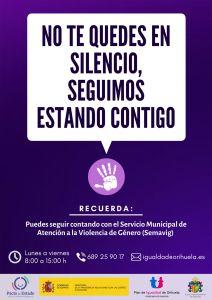 """Igualdad pone en marcha la campaña """"No te quedes en silencio, seguimos estando contigo"""" para prestar apoyo a las víctimas de violencia de género durante el confinamiento"""